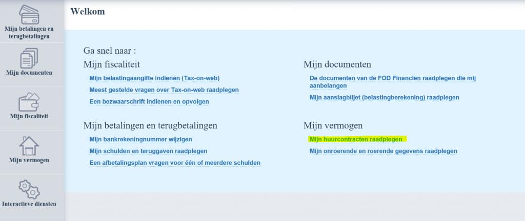 Registratie Huurcontract Fod Financiën
