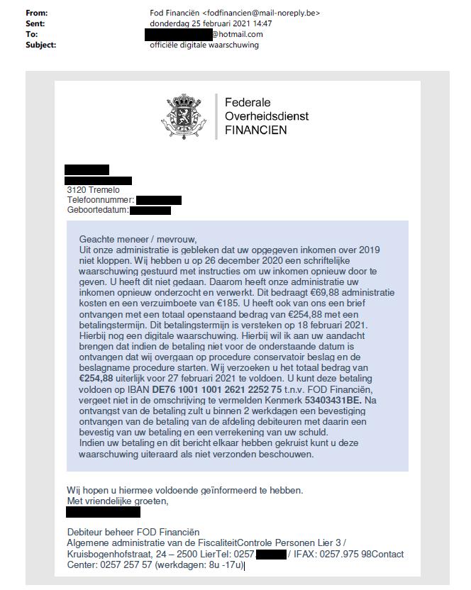 Example NL Phishing
